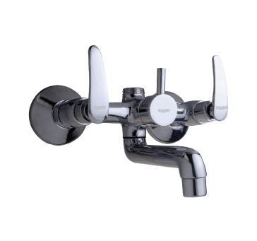 Buy Wall Mixer With Telephonic Shower Arrangement Of L-bend Pipe (with Connection Legs And Wall Flanges)