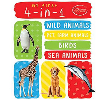 Buy My First 4-in-1 One Wild Animals, Pet And Farm Animals, Birds, Sea Animals: Padded Board Books