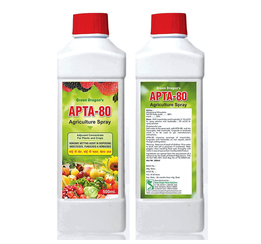 Green Dragon's APTA-80 Agriculture Spray Adjuvant Concentrate for Plants and Crops 1000 ml