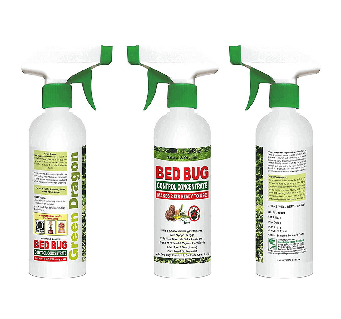 Green Dragon's Natural & Organic Bed Bug Control Concentrate Makes 1.89 LTR