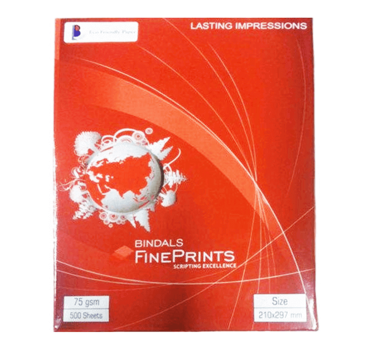 Buy Bindal Copier Paper A4 - 75  GSM (1 Ream - 500 Sheets)