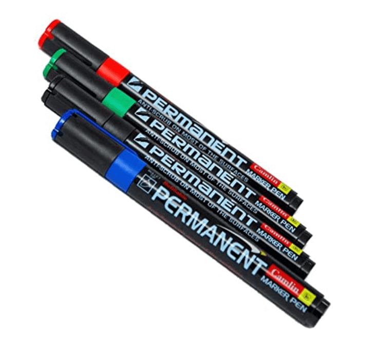 Buy Camlin Kokuyo Permanent Marker (Black, Blue, Red, Green)