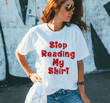 Buy Stop Reading My Shirt