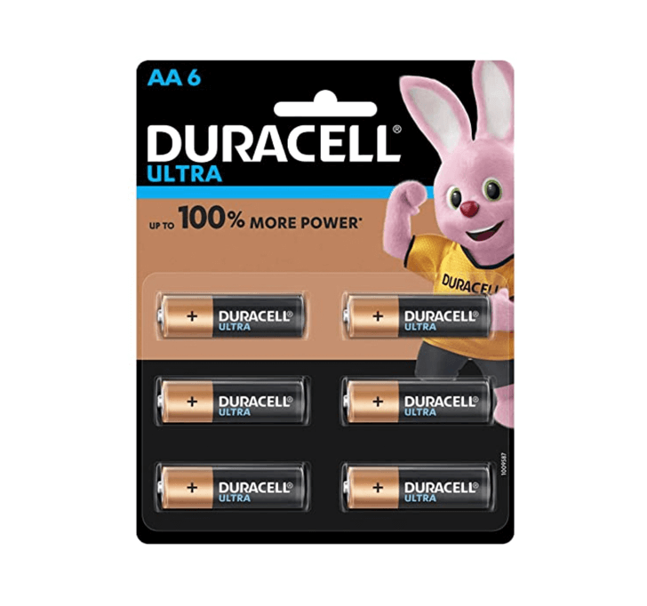 Duracell Ultra AA6 (Upto 100% More Power)