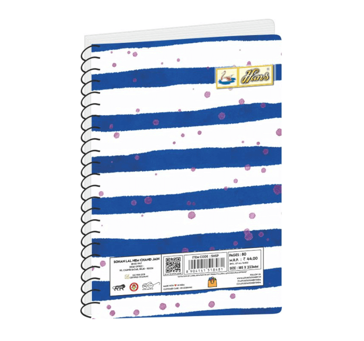 Buy Hans Spiral Notebook (145 X 210 MM) (80 Pages)