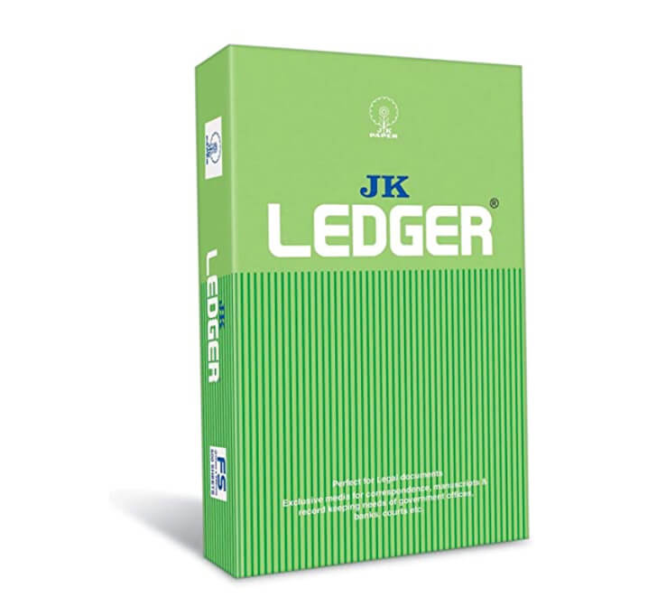 Buy JK Green Ledger Paper (500 Sheets) (80 GSM, 1 Ream)