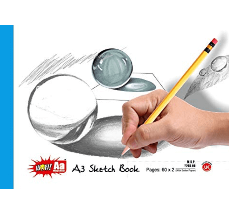 Buy A3 Sketch Book With Butter Paper (Pages: 60 X 2)