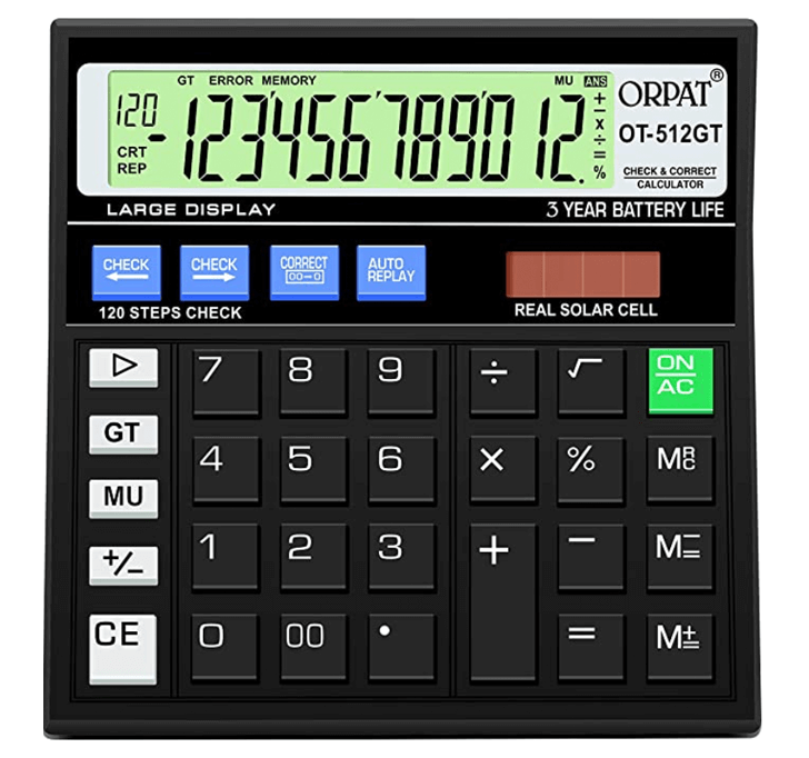 Buy Orpat OT-512GT Calculator (120 Steps Check)