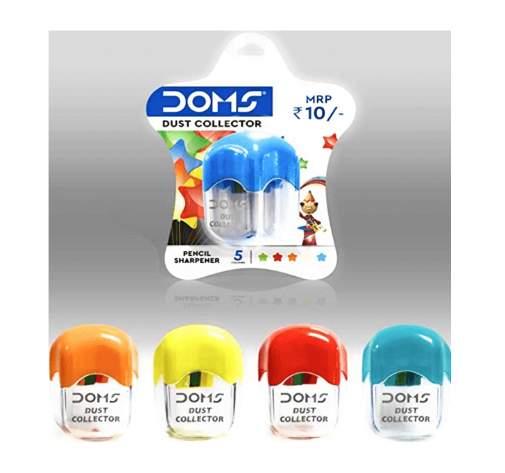 DOMS Pencil SHARPENER Dust Collector (5 Colours)