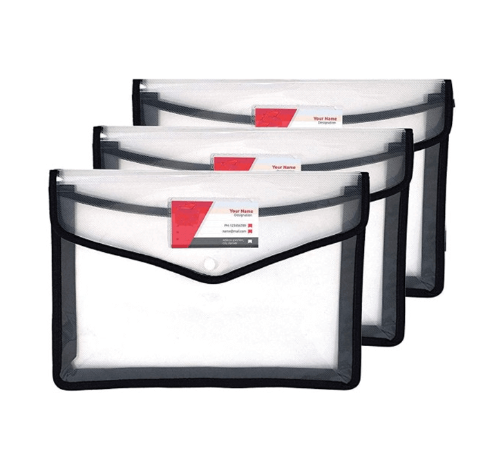 Buy Aerotix Envelope Folder, Transparent Poly-Plastic (A4 Size) (Set Of 3)