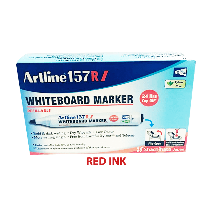 Buy Artline 157 RI (Red Ink) (1 Marker) White Board Marker