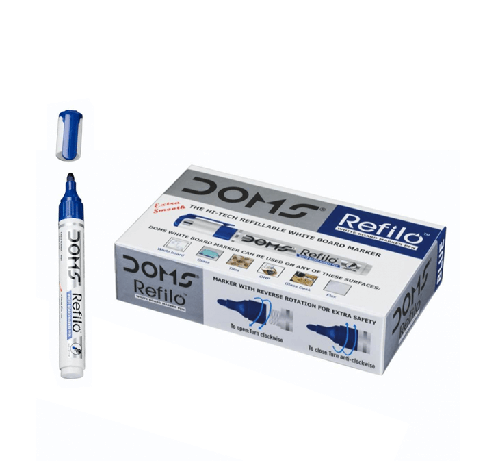 Buy Doms Refilo White Board Marker Pen (Blue)