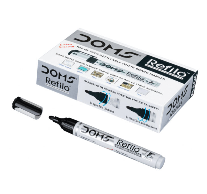 Buy Doms Refilo White Board Marker Pen (Black)