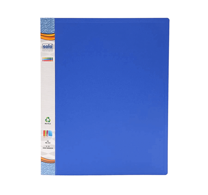 Buy Solo A4 Ring Binder (Blue)