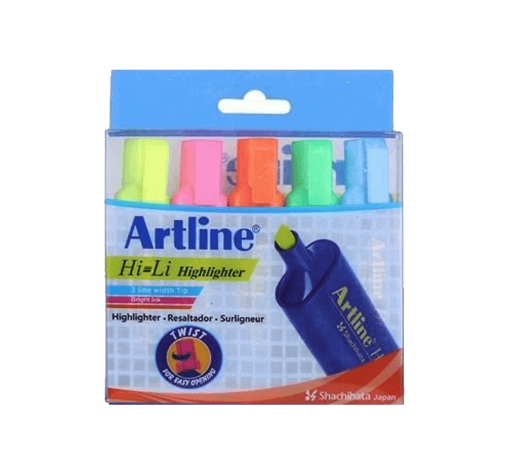 Buy Artline Hi-Li Highlighter (Pack Of 5)