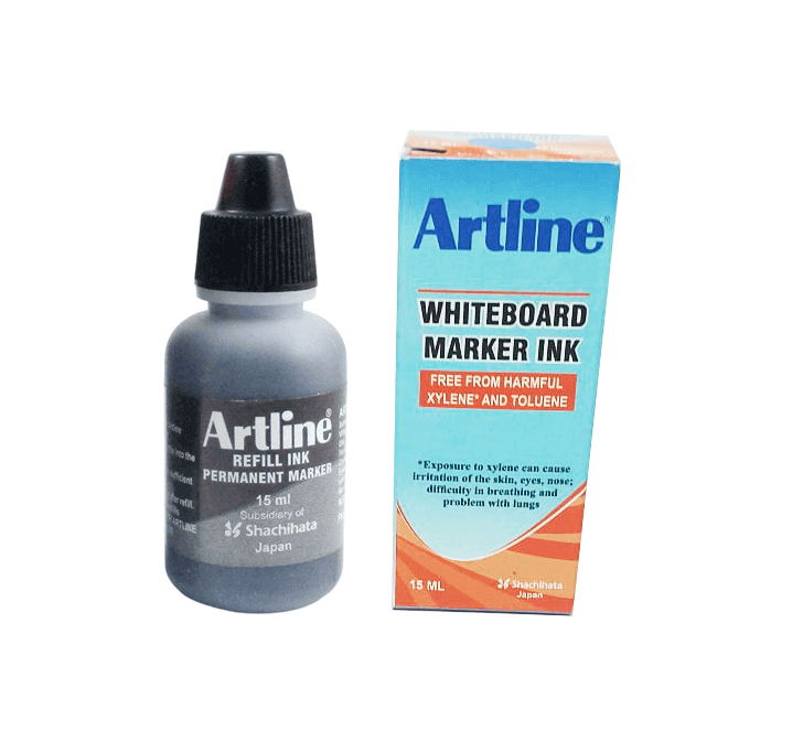 Buy Artline White Board Marker INK (Black) (15ml)