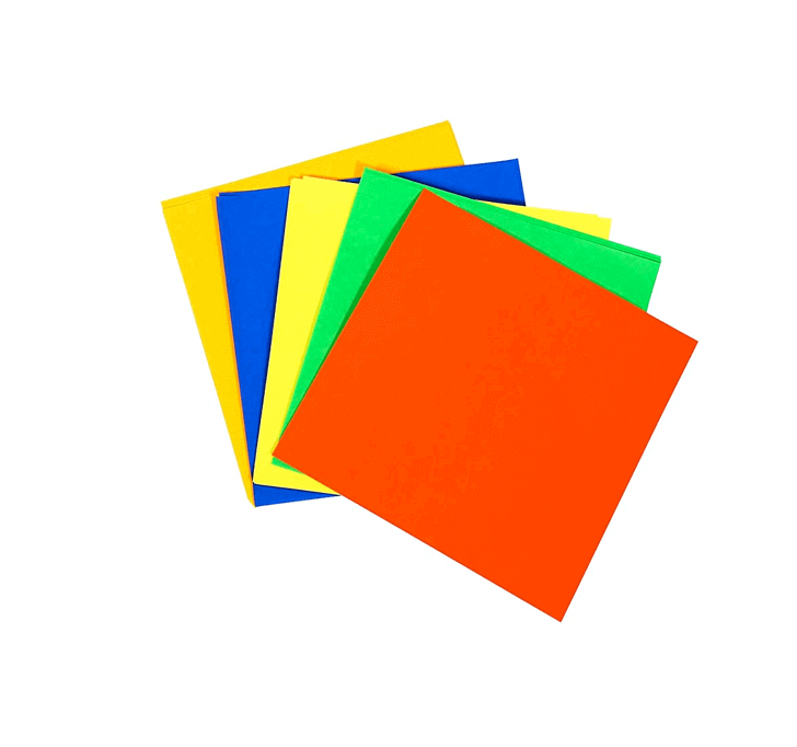 Buy Origami Color Paper (20 Sheets Pack) (5 Fluorescent Colors)