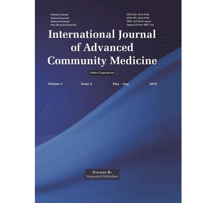 Buy International Journal Of Advanced Community Medicine