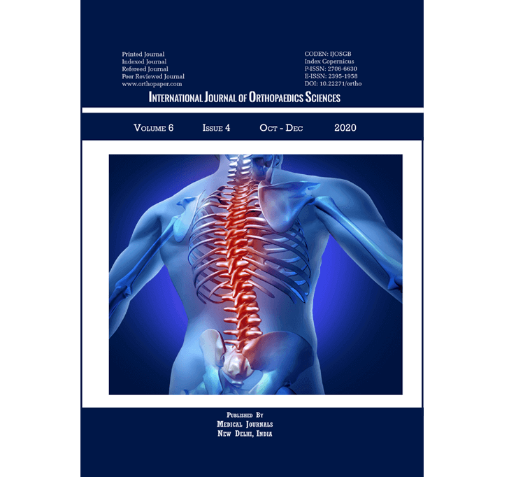 Buy International Journal Of Orthopaedics Sciences
