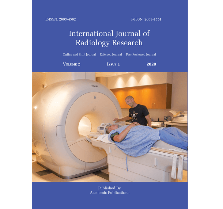 Buy International Journal Of Radiology Research