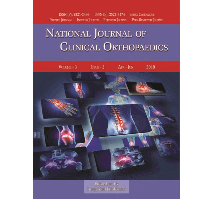 Buy National Journal Of Clinical Orthopaedics