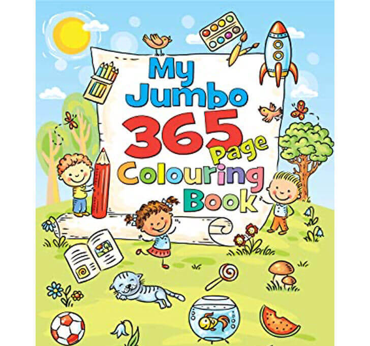Buy My Jumbo 365 Page Colouring Book