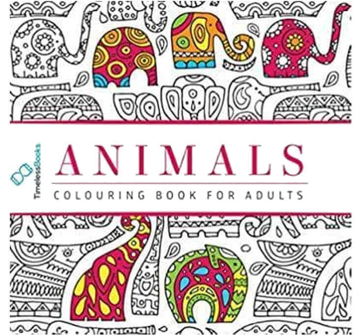Buy Animals Adults Colouring Book With Tearout Sheet